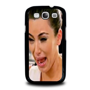 kim kardashian ugly crying face samsung galaxy s3 case cover  number 1