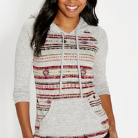 ultra soft hoodie in ethnic print