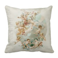 Heavenly Angel Cherubs Vintage Script