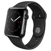 Apple® - Apple® Watch 42mm Space Black Stainless Steel Case with Black Sport Band