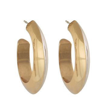 House of Harlow 1960 Jewelry Caral Culture Two Tone Hoop Earring