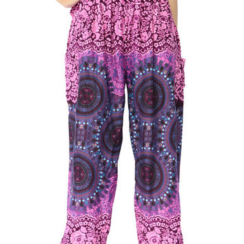 Unisex Hippies Hobo Clothing Clothes Gypsy Outfit Beach For Women Chic Pattern Bohemian Geometric Mandalas Yoga Pants Genie Pants Trousers