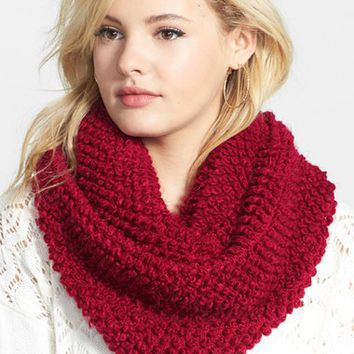 Junior Women's BP. Popcorn Stitch Infinity Scarf
