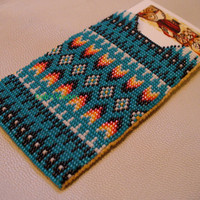 Native American Style Square Stitched Business Card Holder