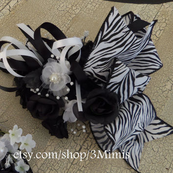 Wrist Corsage and Boutonniere -Made to Order- 2 Piece Set