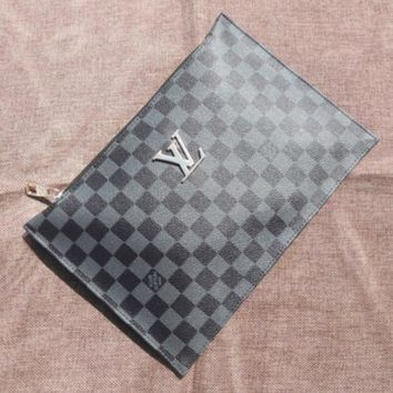 LV New fashion  monogram check handbag women clutch bag