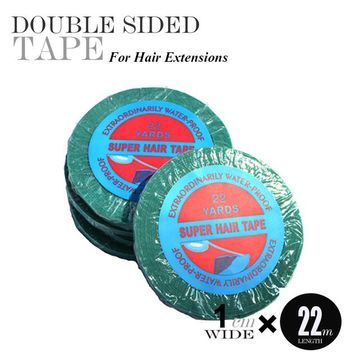 1pc 1cm*22Yard blue Lace Front Super Double-Sided Adhesives Tape For Hair Extensions/Lace Wig Tape/Lace Front Tape/Tape Hair