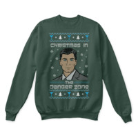 QIYIF Archer Christmas In The Danger Zone Ugly Sweater