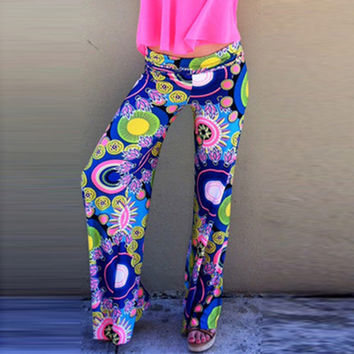 Wheel Print Yoga Pants