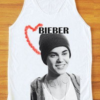 Justin Bieber Shirt The Biebs Shirt Pop Rock Women Tank Top Women Tunic Unisex Shirt Vest Women Sleeveless Singlet Shirt Women T-Shirt S,M,L