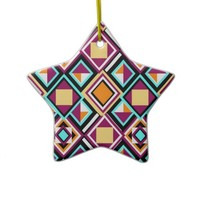 Quilt Pattern Repeat Porcelain Ornament