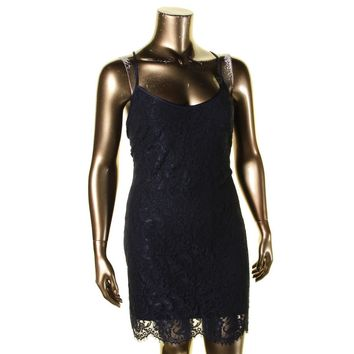 Lauren Ralph Lauren Womens Catania Lace Scalloped Hem Tank Dress