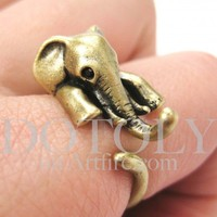 Miniature Elephant Ring in Bronze Sizes 5 to 10 available