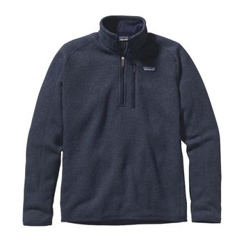 Patagonia Men's Better Sweater® Quarter Zip Fleece | Classic Navy