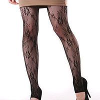 Rose Heel Tights - Stockings at Pinkice.com $8