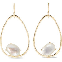 Ippolita - Rock Candy Wire 18-karat gold, quartz and mother-of-pearl earrings