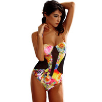 Hot Swimsuit New Arrival Summer Casual Beach Mosaic Backless Sexy Swimwear Bikini [6033459649]