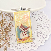 Owl Keychain, Bag Dangles, A Gift for Him or Her