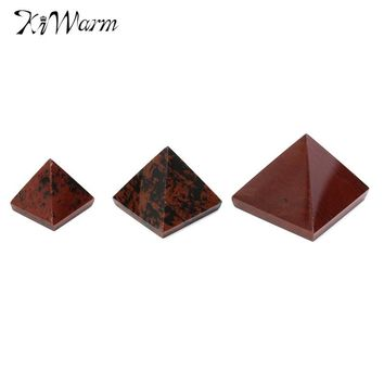 KiWarm Natural 1 x Pyramid 15/25/50mm Crystal Gemstone Healing Orgone Feng Shui Charging for Home Decor Crafts Ornaments Gifts