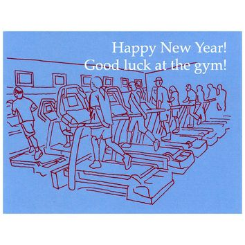 Good Luck At The Gym New Year's Card