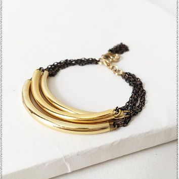Irena Layering Gold Bar Bracelet
