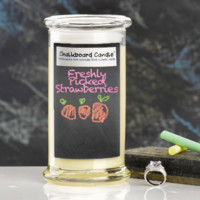 Freshly Picked Strawberries Chalkboard Jewelry Candle