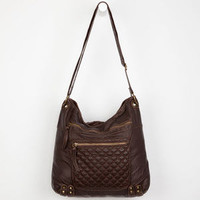 T-Shirt & Jeans Quinn Quilted Hobo Bag Brown One Size For Women 22515340001