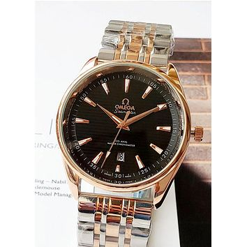 OMEGA 2019 new steel strip quartz watch Black