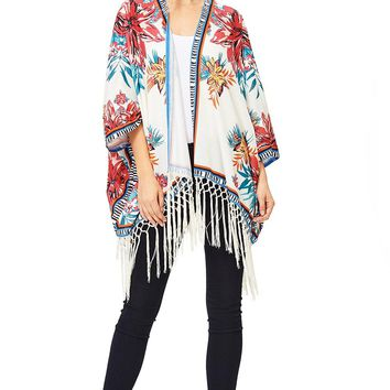 Tropical Fringe Cardigan