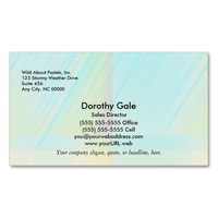 Pretty Pastels - Pale Colored Abstract Business Card