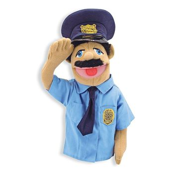 Melissa & Doug Police Officer Puppet With Detachable Wooden Rod for Animated Ge