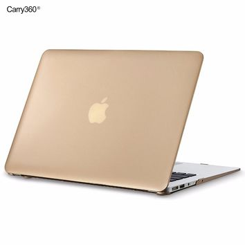 Carry360 Gold Case for Apple Macbook Air Pro Retina 11 12 13.3 15 inch for Macbook air 13 case cover for mac book pro touch bar