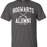 Hogwarts Alumni Harry Potter inspired Tshirt T-Shirt Tee Shirt Mens Womens Ladies Geek Funny B-057