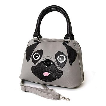 Pug Puppy Handbag Purse