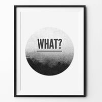 Round geometric art, wall art prints, geometric print, black and white, wall decor, graphic, inspirational, moon print, scandinavian