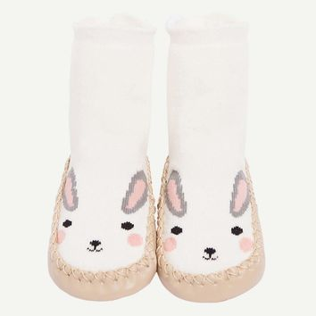 Bunny Cartoon Knit Slippers