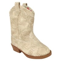 Toddler Girl's Natural Steps Stampede Boot - Tan