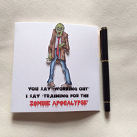 Zombie Card, Birthday Card, Special Occasion Card, Funny Card