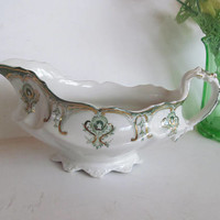 J&G Meakin Chatham Pattern Gravy Boat Antique Green Transferware Gravy Boat Green and Gold China Fine Dining Set  Antique China RVL Etsy