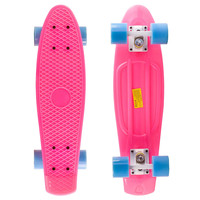 Pastel Pink Penny Style Cruiser Board 22 inch Plastic Skateboard Complete