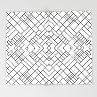 PS Grid 45 Throw Blanket by Project M