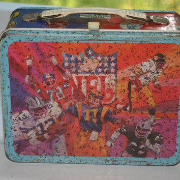 Vintage 1978 NFL Lunch Box No Thermos,Collectible Vintage,Castawayacres