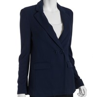BCBGMAXAZRIA carbon cotton blend double breasted blazer   BLUEFLY up to 70 off designer brands