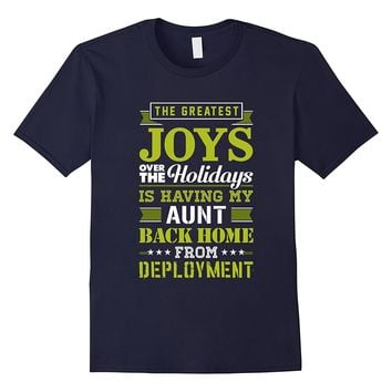 Military Aunt TShirt Christmas Gift For Deployed Soldier