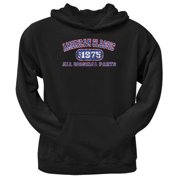 Classic American 1975 Funny Black Adult Hoodie