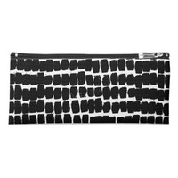 Painted Lines, Black & White Pencil Case