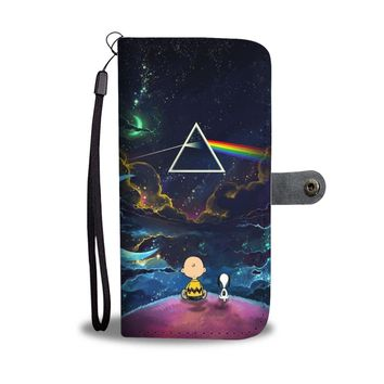 ESBV4S Pink Floyd Snoopy Dark Side Of The Moon Wallet Phone Case