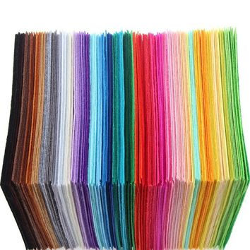 15*15 Cm  22pc Practical Fashion Home Gifts Non Woven Fabric Multi-color Polyester Cloth Felts Sewing Dolls Crafts