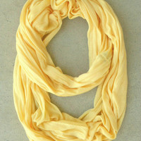 .In a Loop Scarf in Soft Yellow [4442] - $10.00 : Vintage Inspired Clothing & Affordable Dresses, deloom | Modern. Vintage. Crafted.