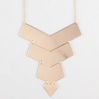 Full Tilt Chevron Bar Necklace Gold One Size For Women 24281162101
